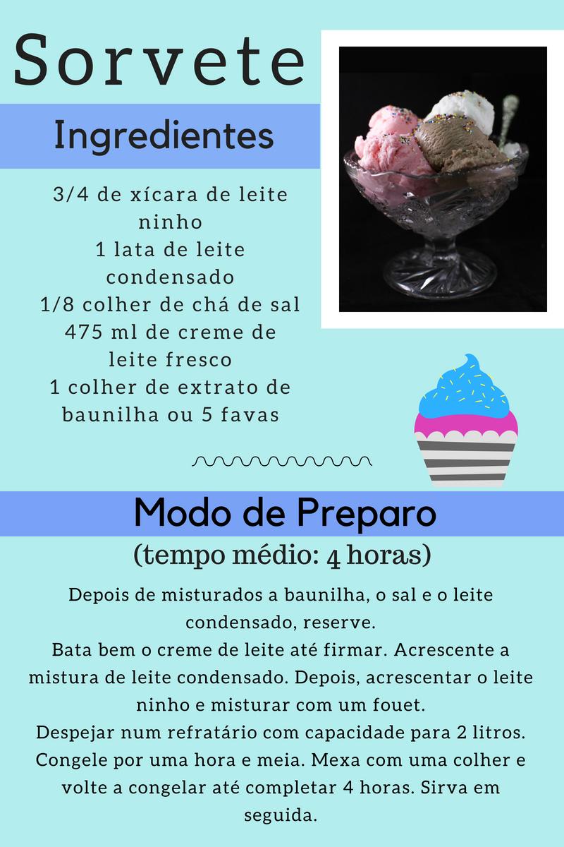 receita completa de sorvete de ninho