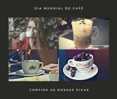 montagem com 4 imagens de cafés
